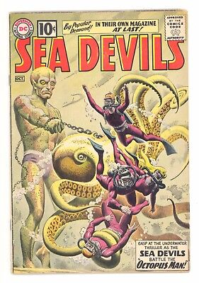 SEA DEVILS #1  DC 1961 - Russ Heath & Jack Adler Art - VG+