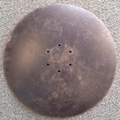 Plow Disc Blade Steampunk Farm Vintage Cast Iron Primitive Antique Tractor /////