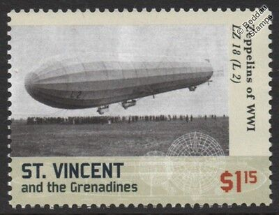 WWI Luftschiff Zeppelin LZ.18 (L.2) I-Class German Airship Stamp