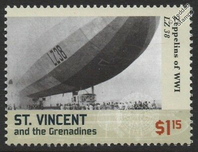 WWI Luftschiff Zeppelin LZ.38 (London Bomber) P-Class German Airship Stamp