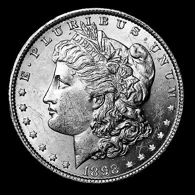 1898 P ~**ABOUT UNCIRCULATED AU**~ Silver Morgan Dollar Rare US Old Coin! #X26