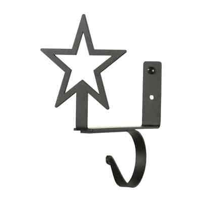 Wrought Iron Star Curtain Shelf Brackets