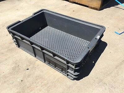 Nally Stackable Industrial Plastic Vented Crates Tubs Storage 36 Per Pallet