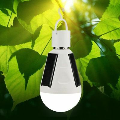 LED Solar Light Bulb E27 Tent Camping Solar Powered Lamp Rechargeable Waterproof