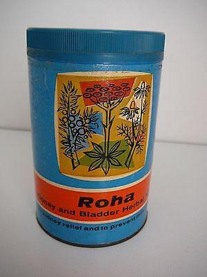 Roha Kidney Bladder Herbal mix Container empty collectable advertising