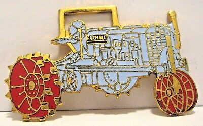 Farmall IH International Harvester REGULAR Tractor Pocket Watch Fob Gray & Red
