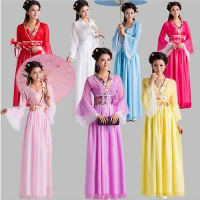 Womens Ladies Chinese Ancient Costume Traditional Infanta Robe Dress Dramaturgic