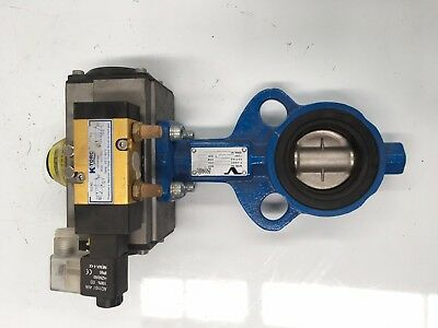 K-Torc Actuator C-063Daoci  Part No. 914615 And Flowserve Butterfly Valve Vf-730