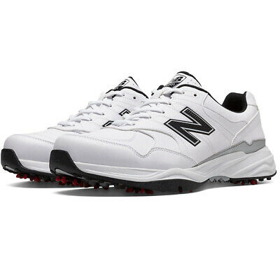New Balance Mens Nbg574 Leather Spiked Golf Shoes - Gray