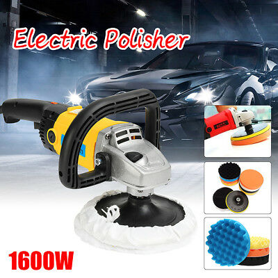 1600W Car Polisher Buffer Electric Sander 180mm Polishing kit Variable Speed
