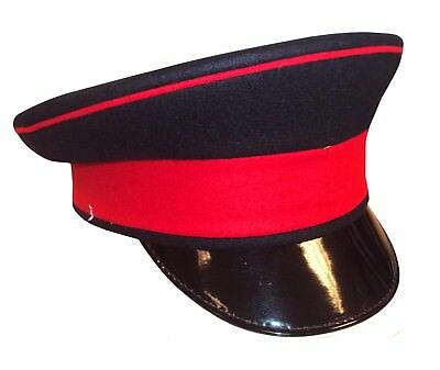 British Army Royals Peaked Cap With Red Band - 54Cm - Grade 1 - Ze4152