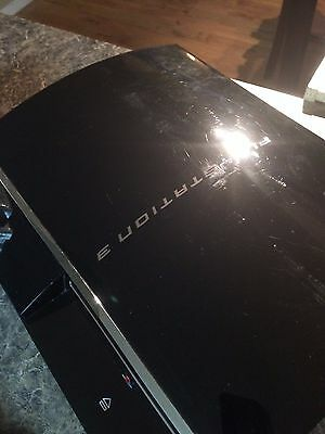 Sony PlayStation 3 80 GB Piano BlK Console CECH-E01 BACKWARDS COMPATIBLE +GAMES