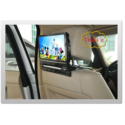 "9"" HD Digital LCD Touch Screen Car Headrest Monitor DVD Player SD Universal"