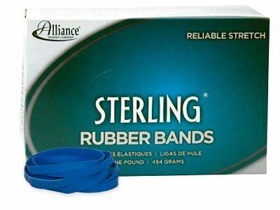 Alliance Sterling Rubber Band  Blue Size #64 3 1 2 x 1 4 Inches 1 Pound Box