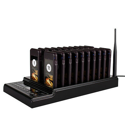 Wireless Paging Queuing System+20*Call Coaster Pagers For Resturant Etc Service