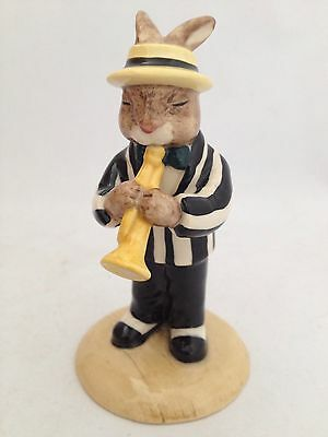 Royal Doulton Bunnykins Trumpet Player Db 210A Limited Edition With Black Jacket