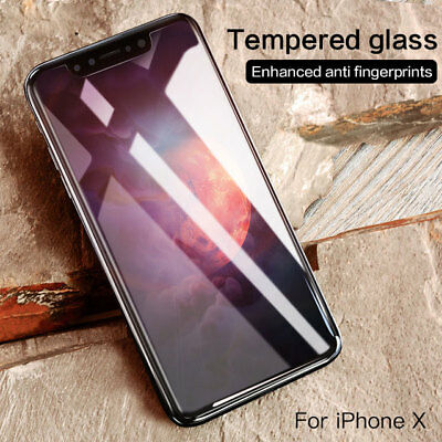 For iPhone X 10 Glass Screen Protector Hardness Anti Scratch Protective Foil 9H
