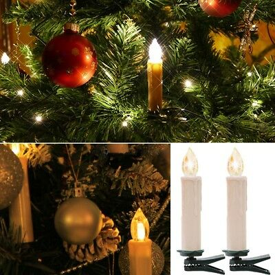 24 led kerzen lichterkette warmweiss aussen innen weihnachtsbaum tannenbaum eur 52 99. Black Bedroom Furniture Sets. Home Design Ideas