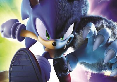 Sonic The Hedgehog Print Art Poster Picture A3 Size Gz1829