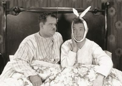 Stan Laurel And Oliver Hardy Bed Humour Comedy A3 Poster Print Hal710