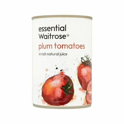 Italian Plum Tomatoes in Natural Juice essential Waitrose 400g