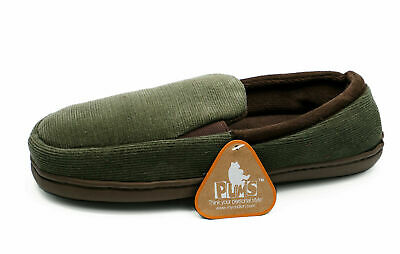 Mens Khaki Slip-On Indoor Flat Warm Comfy Cool Slippers House Shoes Sizes 7-11