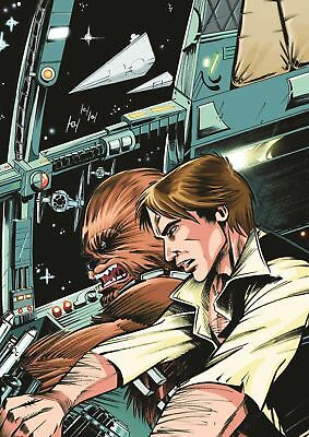Han Solo Starwars Chewbacca Print Art Poster Picture A3 Size Gz1612