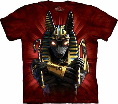 NEW The Mountain Cotton Anubis Soldier Design Novelty Adult T Shirt Red M