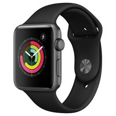 Apple Watch Series 3 42mm Smartwatch - Space Gray/Black (MQL12LL/A)