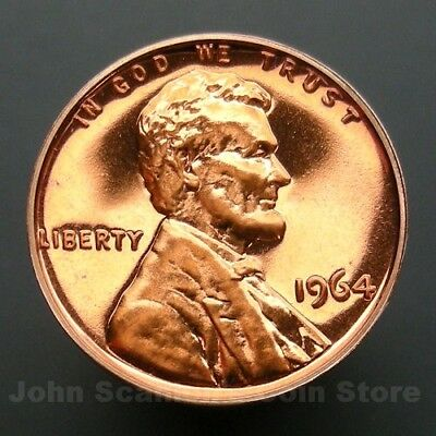 1964 Lincoln Memorial Cent Penny - Choice Proof U.S. Coin