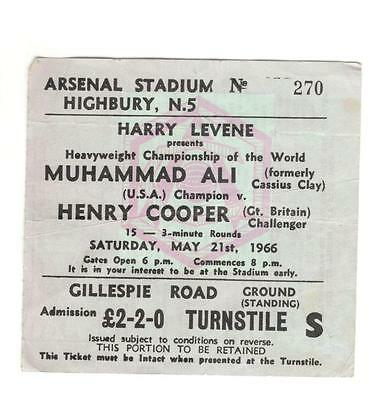 Boxing : Muhammad Ali v Henry Cooper 1966 at Arsenal FC  -  ticket
