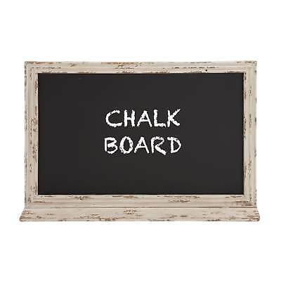 39-inch Shabby Chic Distressed Antique Ivory Wood Wall Chalkboard