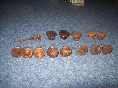 14 vintage antique oak drawer pulls mission oak style original wood used