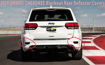 Fits Jeep Grand Cherokee Rear Lower Reflector Blackout Lens Covers Dark Smoke