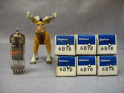 Delco 6BY8 Vacuum Tubes  Lot of 6