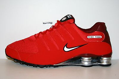 best sneakers 11479 ced27 AUTHENTIC NIKE SHOX NZ Red White Black 378341 601 Running Shoes Men sz