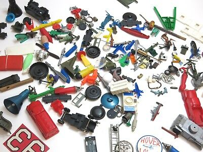 Vintage Lot Of Old Toys And Trinkets From Childs Junk Drawer 1960's 1970's Era