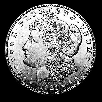 1921 S ~**ABOUT UNCIRCULATED AU**~ Silver Morgan Dollar Rare US Old Coin! #Y37