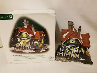 Department Dept 56 Dickens Village The Leather Bottle Shop #56.58511 with Box