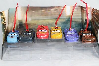 Disney Cars Christmas Decorations.Disney Authentic Pixar Cars 3 Christmas Ornaments 6pc Set Lightning Mcqueen Cruz