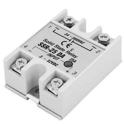 Solid State relays Module SSR Input 3-32VDC Output 24-380VAC 25A DC to AC White