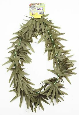 Jamaican Green Leaf Lei Marijuana Pot Rasta Hippie Halloween Costume Accessory