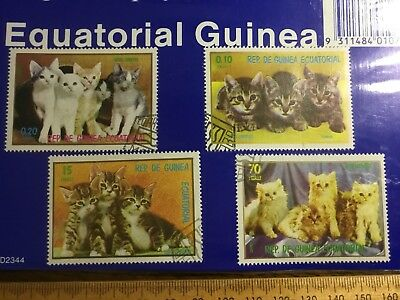 Postage Stamps Equatorial Guinea D2344 Cats