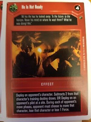 Star Wars CCG Dagobah Unlimited WB 3,720 To 1
