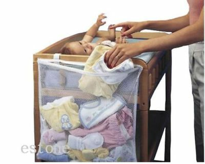 Babs Crib Cot Bedside Hanging Storage Bag Diaper Nappy Clothes Organizer