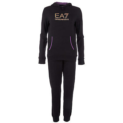Womens Emporio Armani EA7 Womens Logo Tracksuit in Black - 12 From Get The Label