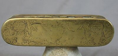 18th Century Dutch Brass Tobacco Box c1760