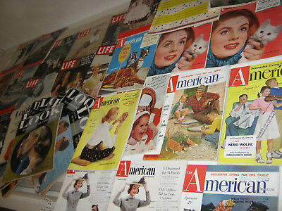 vpk / 1950er  US Zeitschriften Konvolut : LIFE , HOLIDAY ,LOOK , The AMERICAN