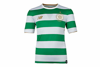 New Balance unisex Celtic FC 17/18 Kids Home S/S Replica Shirt Top Sports