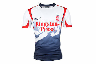 BLK England Rugby League 2017 Players Training T-Shirt Sports Workout